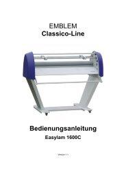 Classico-Line Bedienungsanleitung Easylam 1600C - Dataplot Gmbh