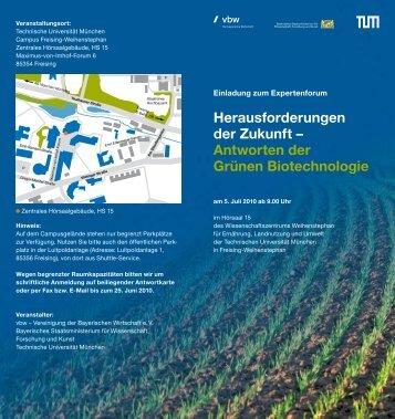 Antworten der Grünen Biotechnologie - IZB