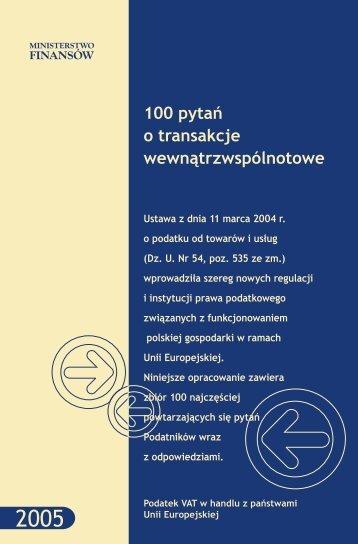 100 pytań o transakcje wewnątrzwspólnotowe - Izba Skarbowa w ...