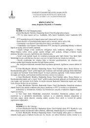 Çalışma Yönergesi için Tıklayınız - İzmir Büyükşehir Belediyesi