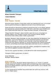 Altyapı Hizmetleri Yönergesi • Genel Hükümler Bölüm 1 Amaç - İzmir ...
