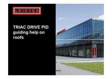 TRIAC DRIVE PID guiding help on roofs