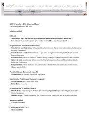 IZPP 8. Ausgabe 1/2013 - Internationale Zeitschrift für Philosophie ...