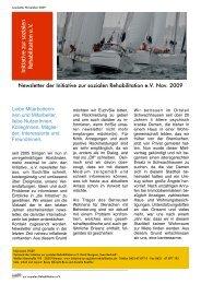 Newsletter November PDF - Initiative zur sozialen Rehabilitation eV