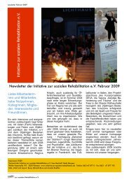 Newsletter Februar PDF - Initiative zur sozialen Rehabilitation eV