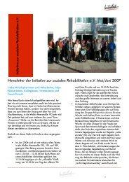 Newsletter Mai/Juni PDF - Initiative zur sozialen Rehabilitation eV