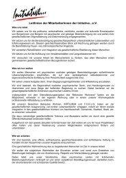 Unsere Leitlinien zum Herunterladen...PDF - Initiative zur sozialen ...