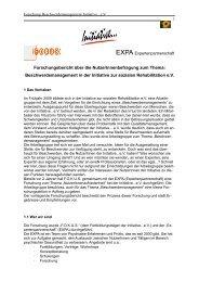 Forschungsbericht über die NutzerInnenbefragung zum Thema ...