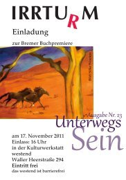 Einladung Pressefest 2011 - Initiative zur sozialen Rehabilitation eV