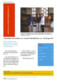 Newsletter Juli/August PDF - Initiative zur sozialen Rehabilitation eV
