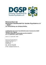 DGSP - Initiative zur sozialen Rehabilitation eV