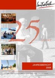 Unser Jahresbericht 2008 als PDF - Initiative zur sozialen ...