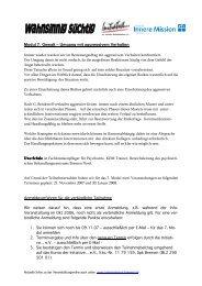 Modul 7 - Initiative zur sozialen Rehabilitation eV