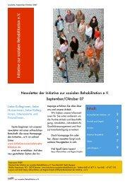 Newsletter September/Oktober PDF - Initiative zur sozialen ...