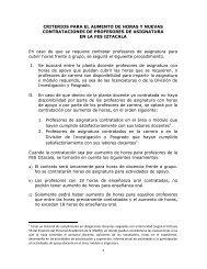 Criterios para el aumento de horas o nuevas contrataciones ... - UNAM