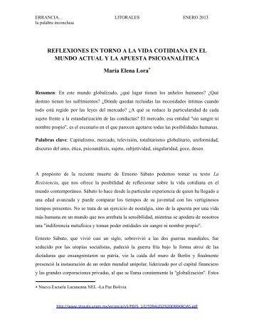 REFLEXIONES EN TORNO A LA VIDA COTIDIANA EN EL ... - UNAM