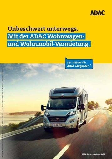 ADAC Wohnmobil-Vermietung / Mieter-Basisinformationen