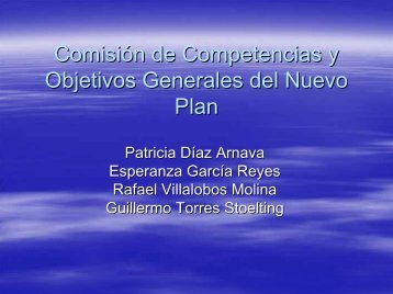 competencias y objetivos generales del plan