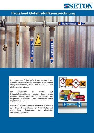 Factsheet Gefahrstoffkennzeichnung