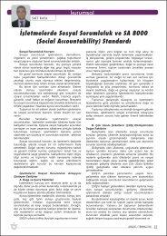 ‹flletmelerde Sosyal Sorumluluk ve SA 8000 (Social Accountability ...