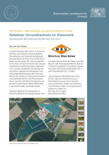 Gelebter Umweltschutz im Kieswerk - Infozentrum UmweltWirtschaft