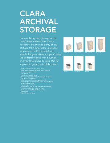 2012 Clara Archival Storage Price Guide - Izzy+