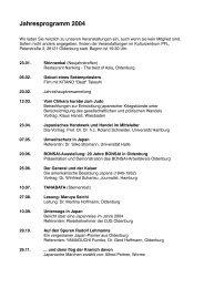 Jahresprogramm 2004 - DJG Oldenburg