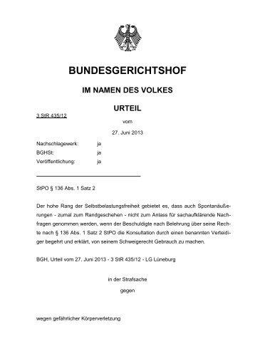 BUNDESGERICHTSHOF - Ja-Aktuell