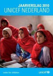 Jaarverslag 2010 - Unicef