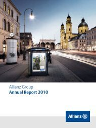 Allianz Group Annual Report 2010 - EQS Group AG
