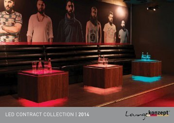 Loungekonzept LED CONTRACT COLLECTION | 2014