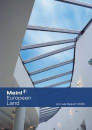 Meinl European Land - Jaarverslag.com