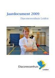 Jaardocument 2009, uitgebreide versie - Diaconessenhuis Leiden