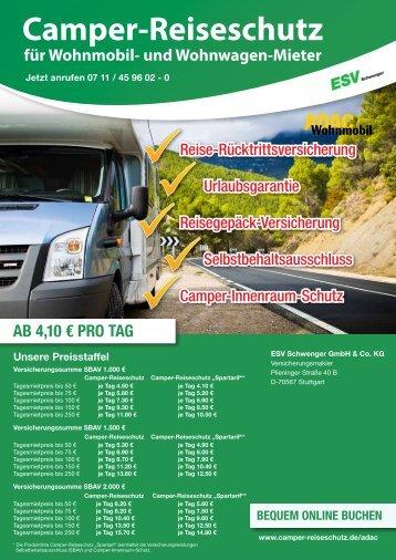 Camper-Reiseschutz für Wohnmobil- und Wohnwagen-Mieter