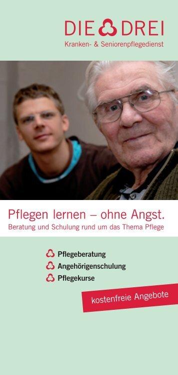 Faltblatt Pflegeberatung und Kurse (pdf, 300kB) - Die Drei