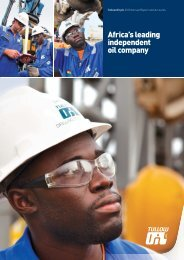 Tullow Oil plc 2010 Annual Report and Accounts - The Group