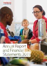 Tesco PLC Annual R eport and Financial S tatements 2011 Ov 2 3 4 ...