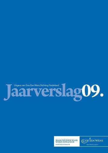 Uitgave van Doe Een Wens Stichting Nederland - Jaarverslag.com