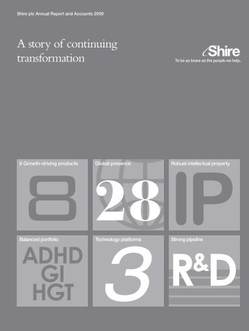 7817 Annual Report 2009.qxd - Shire