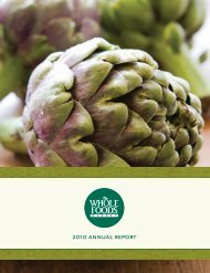 2010 annual report - Whole Foods Market