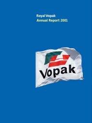 Royal Vopak Annual Report 2001