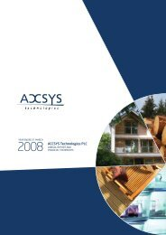 March 2008 Annual Results - ACCSYS Technologies