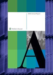 Wolters Kluwer Annual Report 2006