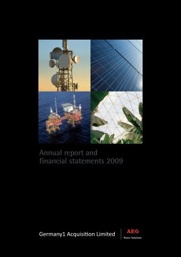 Annual report and financial statements 2009 - AEG Power Solutions