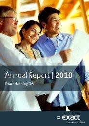 Annual Report | 2010 - Exact