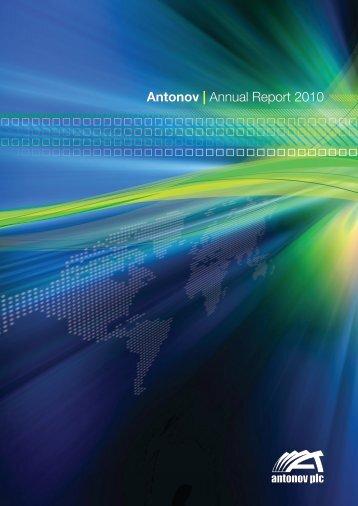Antonov | Annual Report 2010 - Jaarverslag.com