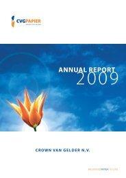 crown van gelder nv annual report - Jaarverslag.com