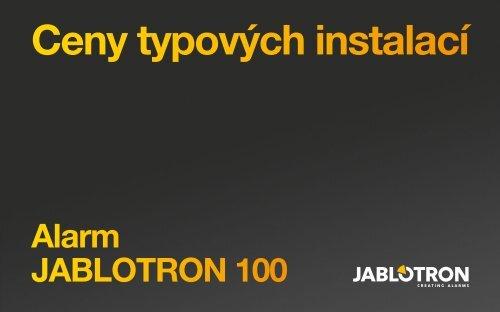 Ceny typových instalací (.pdf) - Jablotron