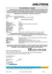1293-CPD-0250 - Jablotron