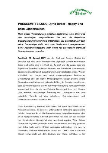 Arno Dirker - Happy End beim Ländertausch - dirker.de